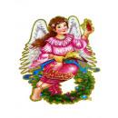 hurtownia Pozostałe: Witraż tekturowy  anioł dwustronny 56x40 cm
