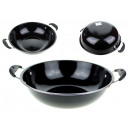 grossiste Pots & Casseroles: Wok en métal noir avec oreilles 32 cm