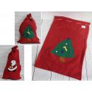 Sacco Babbo Natale per regali 60x40 cm - 1 pezzo