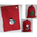 Sacco di Babbo Natale per regali 75x50 cm - 1 pezz