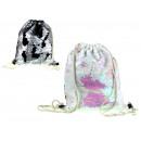 Shoulder bag overturned sequins 39x32 cm