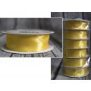 szatén szalag 29 citromhuzallal - sárga 25mm x 9