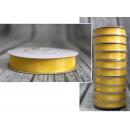 Szalag, szatén huzal - a29 citrom - sárga 15mm