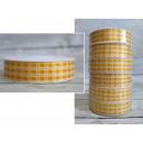 Szalag, szalag, sárga csekk, szélesség 3 cm, 12m