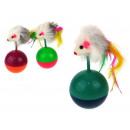 hurtownia Ogrod & Majsterkowanie: Zabawka dla kota mysz na kuli 11 cm