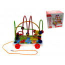 Wooden toy educational abacus 16x13x16 cm