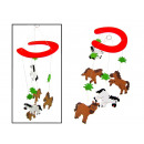 wholesale Toys: Wooden toy carousel horseshoes with pets