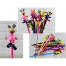 hurtownia Zabawki: Zabawka drewniana ołówek mix zwierzaków 22 cm - 1