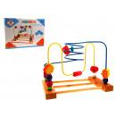 Drewniana zabawka pętla edukacyjna, logiczna 25x15