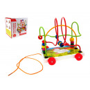wholesale Toys: Wooden toy loop on wheels 17x17x14 cm