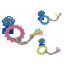 Gioco in gomma per cane cerchio pastello 18x8,5 cm