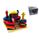 Piramide di legno educativa 14,5x14,5x11