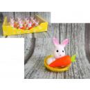 Húsvéti nyuszi egy sárgarépa egy kosárban 5x5,5
