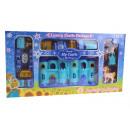 Château, palais + accessoires bleu 42x22x4 cm
