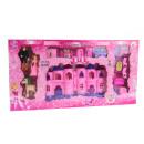 Kastély, palota + kiegészítők rózsaszín 42x22x4 cm