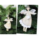 Ciondolo angelo in legno 16 cm - 1 pezzo