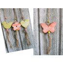 Mix wood pendant (butterflies, flowers, hearts, bi