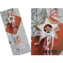 Medál csillag fa szalagokkal és dekorációk