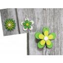 wholesale Decoration: Pendant flower wood mix 8 cm