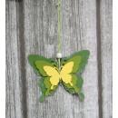 Pillangó medál, hármas virág 14,5x11 cm