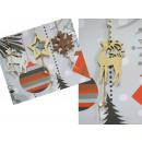 mayorista Casa y decoración: Colgante en un árbol de Navidad mezcla de madera d