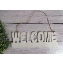 Message de bienvenue pendentif 30x10 cm