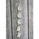 Wooden pendants on a string of owls with beads 4