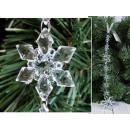 Pendenti in cristallo con fiocco di neve 35 cm - 1