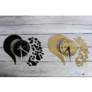 wholesale Clocks & Alarm Clocks: Clock glued to the wall of the mirror of the heart