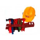Construction set of tools on the belt + mesh helme