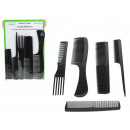 Set of combs 5 models on a blister (24x16 cm)