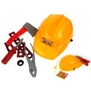 wholesale Car accessories: A set of a small builder + a helmet in a net
