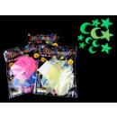 wholesale Garden & DIY store: Set of fluorescent stickers mix 12s