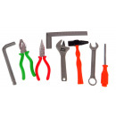 wholesale Toolboxes & Sets: A set of tools in foil toys 15x15 cm