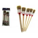 Set di pennelli per dipingere un insieme circolare