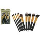 Un set di pennelli cosmetici 10 elementi in 16 fog