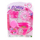 wholesale Toys: A beauty set with a dryer on a pretty 29x blister