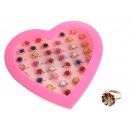 Ensemble de rosaces avec zircons - compas
