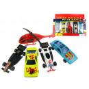 wholesale RC Toys: Set of  metal-plastic vehicles set 5 sz
