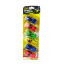 Set of toy cars on a blister pack of 6 pieces