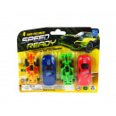 Set of toy cars on a blister pack of 4 pieces