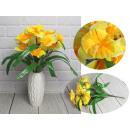Mazzo di narcisi di 12 fiori con foglie 40x6,5 cm