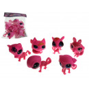 Set animaux rose 5 cm - set de 6 pièces