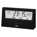 wholesale Weather Stations: CTC weather station with clock WSU 7022 Black