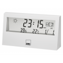 wholesale Weather Stations: CTC weather station with clock WSU 7022 white