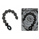 SEX & MISCHIEF SILICONE ANAL BEADS, BLACK