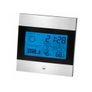 wholesale Weather Stations: CTC weather station with clock WSU 7023 black