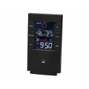 wholesale Weather Stations: CTC weather station with clock WSU 7024 black