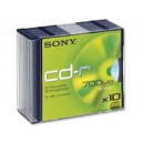 Sony CD-R 80Min / 700MB / 48x Slimcase (10 Disc) 1