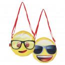 wholesale Handbags: EMOJI - handbag character, pink